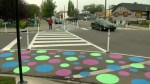 Calgary tests out 'traffic-calming' polka dots
