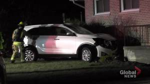 SUV strikes house in Peterborough