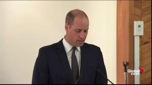 Prince William speaks at New Zealand's Al Noor Mosque