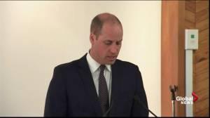 Prince William speaks at New Zealand's Al Noor Mosque