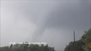 Video of suspected tornado