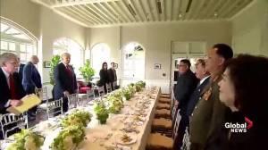 Trump-Kim summit: Trump, Kim take a working lunch