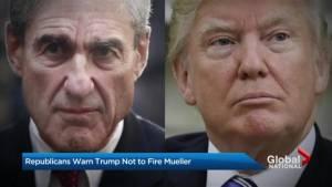 Republicans warn Donald Trump not to fire Mueller