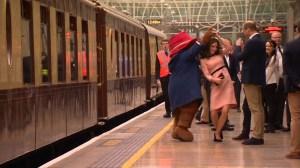 Kate Middleton dances with Paddington Bear