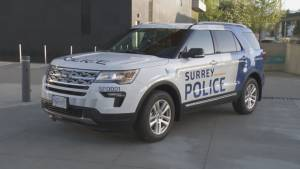 Surrey mayor gets mixed reaction for prototype police car