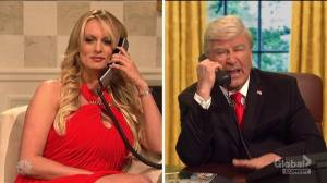 'A storm's a-comin baby': Stormy Daniels makes surprise guest appearance on SNL cold open (07:15)