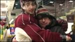 Petes superfan Iain norrie is surprised by Fresh Radio hosts