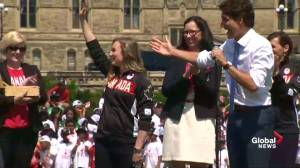 Prime Minister Trudeau announces Rosie MacLennan will be Canada's flag bearer at 2016 Summer Olympics