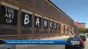 Toronto man sneaks in own art piece at Banksy exhibit