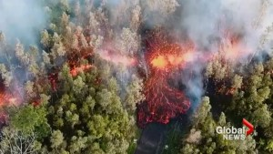 Stunning video shows lava rising from massive crack caused by Hawaii volcano eruption
