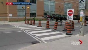 Road closures in effect due to streetcar track replacement in Toronto