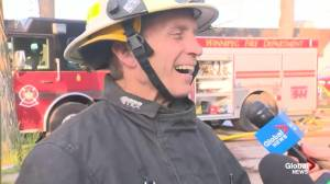 Fire Chief John Lane on the fire overnight on Jarvis Avenue