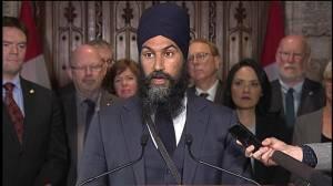 Jagmeet Singh says Trudeau has 'no vision for future,' slams Trans Mountain deal