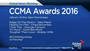 Nominees announced for Canadian Country Music Awards Album of the Year!