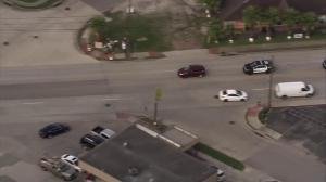 High speed pursuit in Houston comes to an end at Exxon gas station