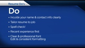 What to and not to include in a resume when applying for a job.