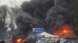 8 injured in dramatic fireworks explosion in Poland