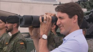 PM Trudeau visits Canadian troops in Latvia