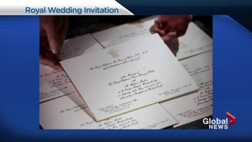 Check out the royal wedding invitations! | Watch News Videos Online