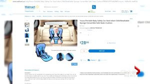 Car seat being sold by online retailers is illegal in Canada