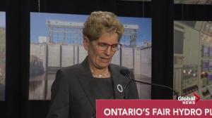 Premier Wynne acknowledges Ontario's hydro pricing problem