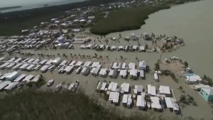 Boats tossed from docks , homes flooded in Key Largo, Florida after Hurricane Irma