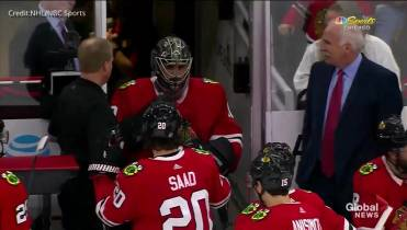 36 Year Old Accountant Turned Emergency Goalie Helps Blackhawks Beat
