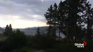Lightning strikes just metres away from West Kelowna resident