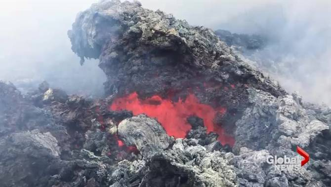 This is what lava damage from Hawaii's Kilauea volcano looks like