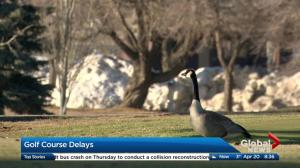 Calgary golf course openings delayed by snow cover
