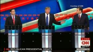 Rubio, Cruz attack Trump during GOP presidential debate