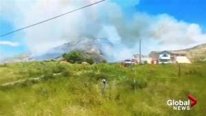 Kamloops area man claims fire investigation surrounds metalwork outside his home on Shuswap Road