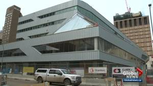 Time capsule placed in Edmonton's Stanley A. Milner Library (01:24)