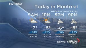 Global News Morning weather forecast: Thursday, February 14