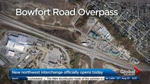 Trans-Canada Highway/Bowfort Road interchange officially opens