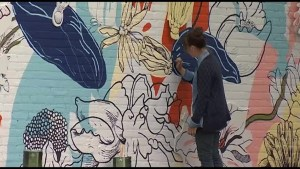 Finishing touches go on mural in Downtown Peterborough