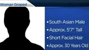 RCMP searching for suspect after woman groped in Surrey