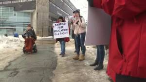St. Lawrence College students protest provincial grant changes
