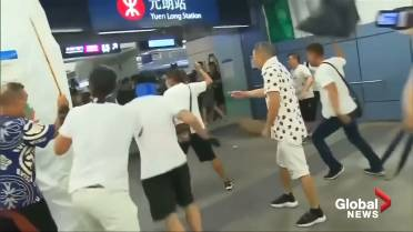 Arrests made after suspected triad gang attacks on Hong Kong