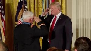 Donald Trump awards Medal of Honour to Vietnam War veteran