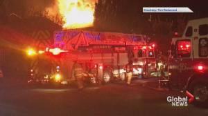 Viewer video of two-alarm house fire in southeast Calgary neighbourhood