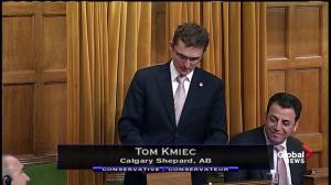 Tom Kmiec, MP of Calgary Shepard says his constituents are opposed to changing National Anthem