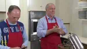 Premier John Horgan makes cookies