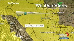 Potential for severe thunderstorms in Calgary area Wednesday