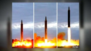 North Korea releases photos of recent missile launch