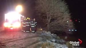 A car plunged into Okanagan Lake on Thursday night