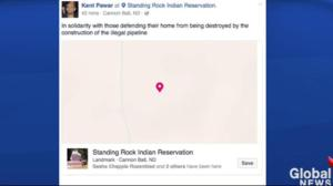 Facebook users falsely check in at Standing Rock protest
