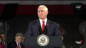 Mike Pence says U.S. has plan to return to the moon