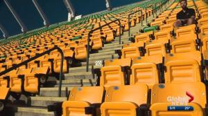 Temperature fluctuations around Commonwealth Stadium