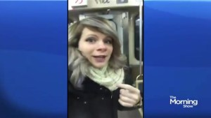 Woman breaks out into song on the subway when she thinks she's alone